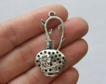 2 Jug pendants antique silver tone BOX13