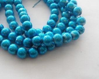 103 Blue glass beads B40