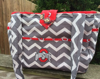 Ohio State inspired diaper bag