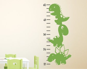 Dinosaur Growth Chart Wall Decal - Dinosaur Decal - Children Wall Decals