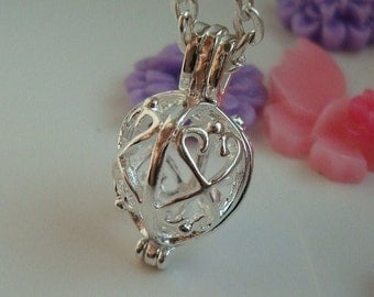 Wholesale - bulk - discount - 5pcs Silver plated - Pendulum Locket - Pendant - Pearl cage  - bead cage - Quality supplies since 2009