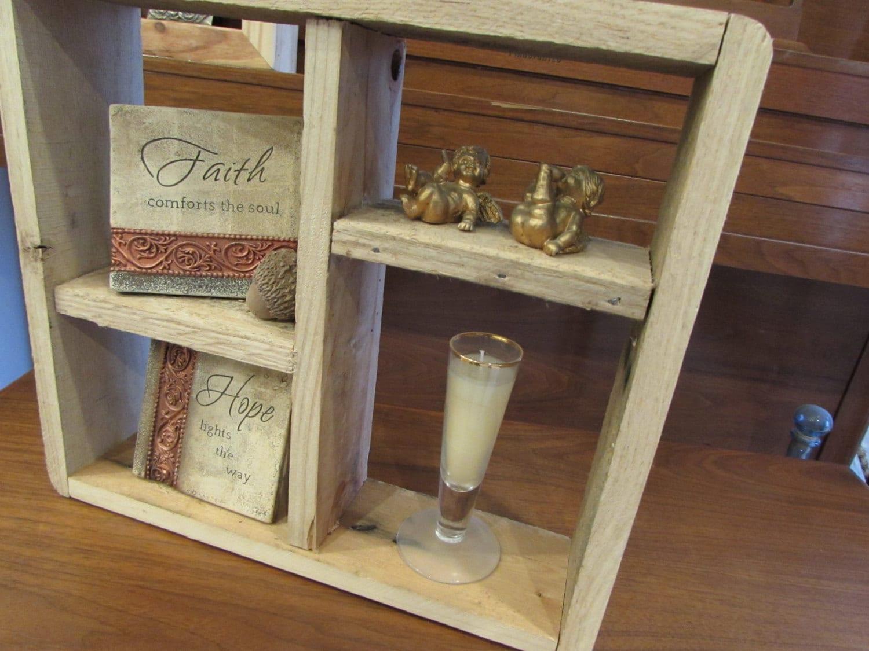 Rustic Reclaimed Pallet Wood Shadow Box Wall Shelf Floating
