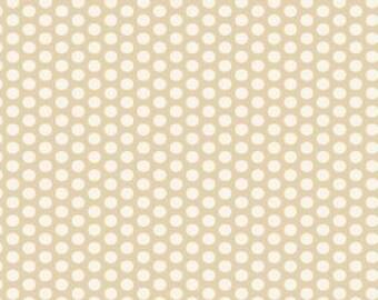 Muslin Mates by Moda Fabrics, Mates Polka Dots Natural  1/2 yard total