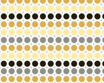 Andrea Victoria by My Minds Eye and Riley Blake Designs Dots Gold, 1/2 YARD