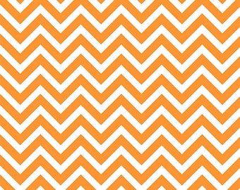 Shannon fabric, Mini Pumpkin Chevron cuddle minky, end of bolt 25""