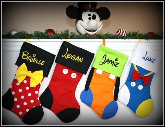 Christmas stockings disney character inspired personalized