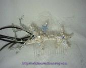 Custom Mermaid Bridal Fascinator MADE TO ORDER