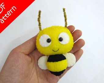 Bee Plush PDF Pattern -Instant Digital Download