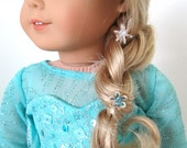 """SPECIAL ORDER your own 2-piece Winter Princess Snow Queen Gown for 18"""" American Girl Dolls"""