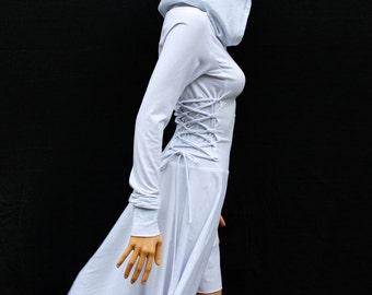 White Casual Dress / Cotton Dress