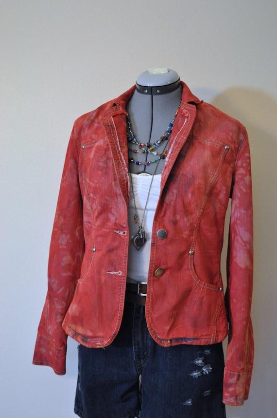 Plus Size Cropped Denim Jacket