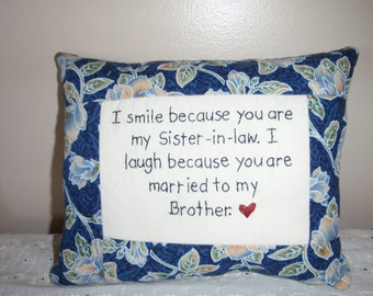 Smile Sister-in-Law Pillow