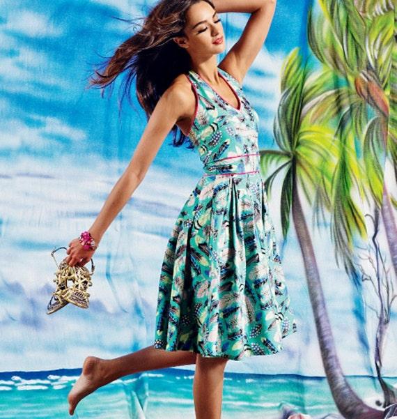Items similar to Halter Top Dress Pattern, Summer Dress Pattern, Classic Dress Pattern, Sz 14 to ...