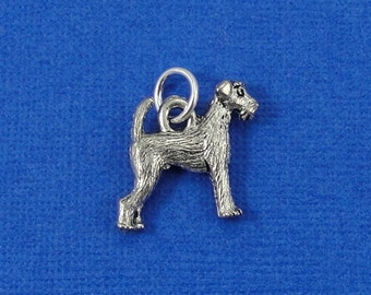 Airedale Terrier Charm - Silver Airedale Welsh Terrier Charm for Necklace or Bracelet