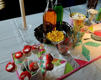 Table Runner Desert Party Ice Cream Buffet/ Sundaes/Candy Buffet