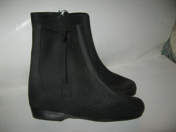 1950s womens TOTES pure natural rubber overshoes boots sz
