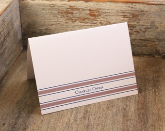 Classic Personalized Stationery - Personalized Stationary for Men Custom Set of 12 Thank You Notes