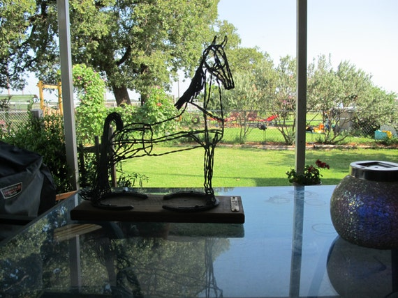 Metal Horse Sculpture of Tennessee Walking Horse-ON SALE!!!