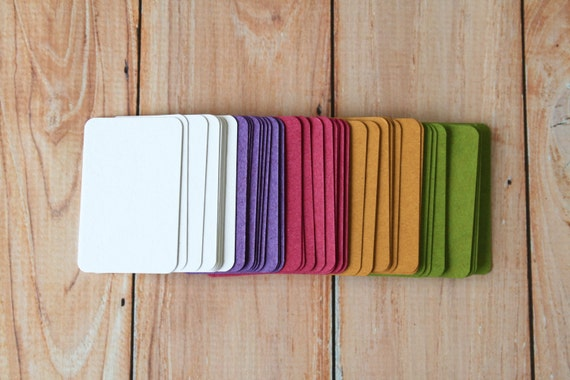 50pc TINTED Series Business Card Blanks