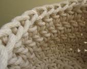Crochet Rope Basket for Tif  --CUSTOM ORDER--