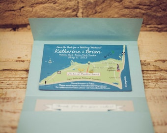 As Seen on Wedding Chicks - Save the Date Hatteras Island, Buxton, North Carolina Magnet