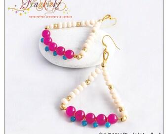 Elegancia Collection Beaded Chandelier Earrings
