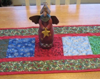 Christmas Quilted Block Table Runner