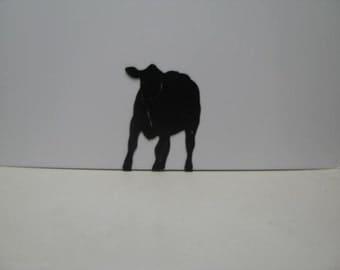 Cow 006 Western Metal Wall Yard Art Silhouette