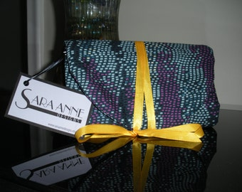 Purple and Blue Travel Jewelry Clutch