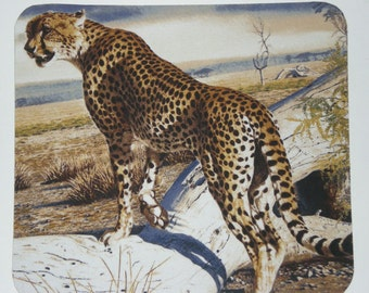 Cheetah on the plains mousepad