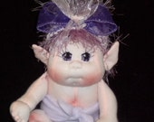 Baby Pixie Fairy, Soft Sculpture Elf Doll, Gnome, Troll READY TO SHIP