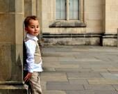boys pants - boys linen pants wide leg in French beige pure linen