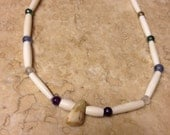 Two Spirit necklace CUSTOM made for you Native American Made coyote tooth elk tooth blank or cowrie shell beads