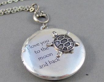 Turtle Love,Locket,Silver Locket,Turtle,Turtle Locket,Turtle Necklace,Ocean,Antique Locket,Antique,Woodland,Love You valleygirldesigns.