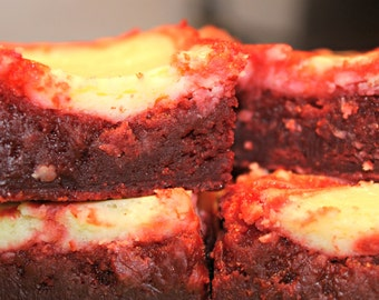 Gourmet Red Velvet Cheesecake Brownies-Valentine's Day-happy birthday-get well-housewarming-anniversary-chocolate-mother's day