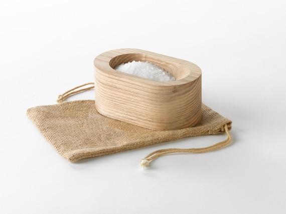 Grain Salt Cellar - a modern wood salt dish