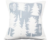 Ashley Pine 20in Pillow in Rainy Day Gray