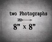 Wall Decor Set of 2 Prints / 8x8 photography set / Save 30%