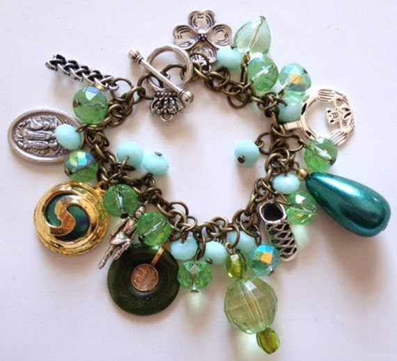 Irish Dance Charm Bracelet with Irish Dancer and Ghillie Charms Our Lady of Knock