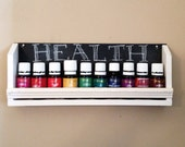 Set of Three Essential Oil Shelves with Chalkboard