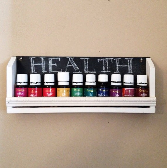Items Similar To Essential Oil Shelf With Chalkboard On Etsy