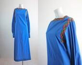 c1970's Cotton Maxi Dress M