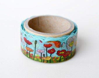 Flowers Poppy Yano design debut series washi tape 20mm x 5M