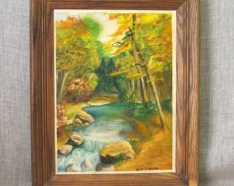 Landscape Painting , Landscape , Painting , Schilling , Original , Art , Fine Art , Painting , Forest , Trees , Vintage Art , Nature