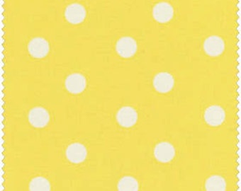 White Dots on Yellow 100% Cotton Quilt Fabric Blender for Sale, Material by the Yard, EESCRC1002593-YEL, Fat Quarter, Yardage, Polka Dot
