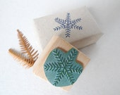 Winterly rubber stamp: Snow star - karamelo