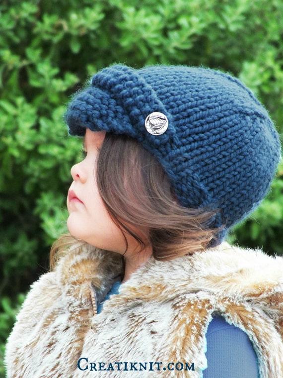 Knitting Pattern Baby Newsboy Hat Toddler Child Sizes From Creatiknit On Etsy Studio