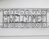 Spirillian Filigree Barbed Wire Welcome Sign Made To Order