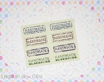 120 units of Handmade stickers. Vintage Look. Seal Sticker. Ready to ship!