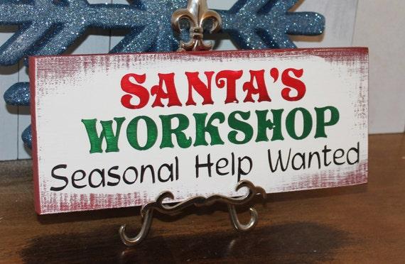 Sale Santa S Workshop Seasonal Help Wanted Christmas